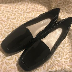 Enzo Angiolini Black Leather & Patent Loafers